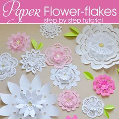 paper flower flakes