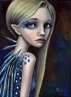 Lumi - Bird girl - Print of oil painting by Tanya Bond. Starting at $5 on Tophatter.com!