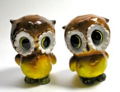 Vintage Owl Salt and Pepper Shakers by borahstyle on Etsy