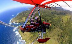 """""""Hang-gliding over waterfalls in Maui, Hawaii."""" (From: 30 Beautiful Photos of the Hawaiian Islands)"""