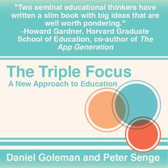 """Two seminal educational thinkers have written a slim book with big ideas that are well worth pondering."" - Howard Gardner, Harvard Graduate School of Education, co-author of The App Generation. #book #education #psychology"