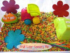 Love, Play, Learn: Fruit Loop Sensory Bin