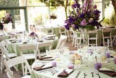 wedding receptions, mesa, color schemes, wedding decorations, lavender weddings, mint, purple wedding, place, green weddings