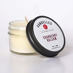 Cranberry Balsam 4oz. Soy Wax Candle (I want to try this companies candles REAL bad!)