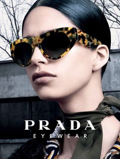 Mica Arganaraz by Steven Meisel for Prada Eyewear Fall 2014  [Campaign]