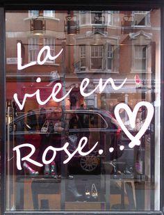♫ La-la-la Bonne vie ♪ life quotes, paris, la vie en rose quote, pink roses, bathing, edith piaf, glasses, aunts, entrance