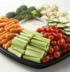 Every party needs a vegetable tray. Choose from 4 sizes to complete your graduation party buffet.