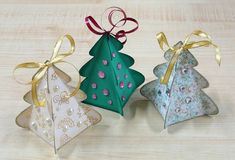 Little Christmas tree gift boxes/ornaments diy
