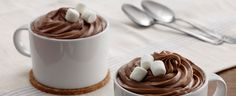 Duncan Hines Frosting Creations - Chocolate Marshmellow Frosting on Chocolate Marshmellow Mug Cakes