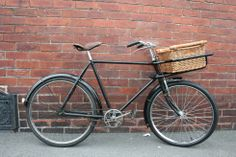 "1950's Phillips tradesman/butcher bicycle handmade in England. ""It is totally original except for a new laced up Brooks leather saddle and a new front wheel and tyre."""