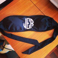 Monogram bandeau bikini top by RysaRuth on Etsy, $25.00