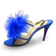 Blue Christian Louboutin Petal Sandals  £73.00