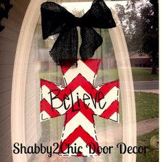 Hey, I found this really awesome Etsy listing at http://www.etsy.com/listing/169588953/believe-cross-door-hanger-christmas-door