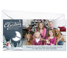 Photo Cards : Jack Frost Christmas Holiday Photo Card Template
