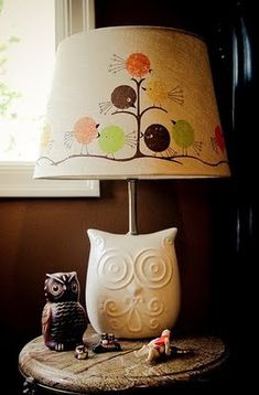 Owl lamp. I want it. but i'm not sure what room of the house it would go in.....