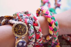 feign insanity: DIY: braided bracelets