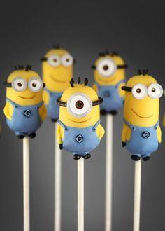 Minion pops Birthday, Despicable Me 2, Parties, Food, Minion Cakes, Minis, Cake Recipes, Cake Pop Recipes, Minions Cake