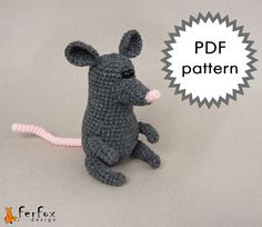 Crochet Mouse Amigurumi Pattern   Maurice the by FerFoxDesign, $3.90