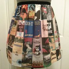 A made-to-order book cover skirt. Adorable!