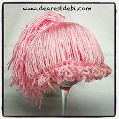 Crochet Newborn Cabbage Patch Kid Ponytail Beanie - Dearest Debi Patterns
