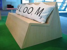 Scrabble Furniture, made by Stephen Reed for employees in the London offices of Bloomberg financial services.