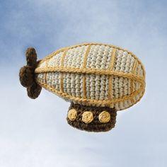 Crochet Airship pattern by NeedleNoodles