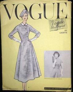 Vogue 1362 by Jacques Griffe | 1950s Vogue Paris Original