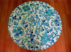 Mosaic Table Top - Turquoise Decor by TheColella, via Flickr
