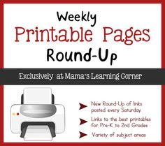 Weekly Printable Pages Round-up - FALL edition!  Lots of links to fall packets for little peeps