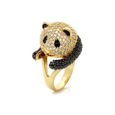 Panda Cocktail Ring   47 Intensely Delightful Pieces Of Animal Jewelry