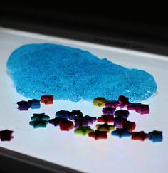 Star Slime Sensory for Kids on the Light Table
