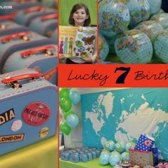 Travel Theme Party {lucky 7 birthday}