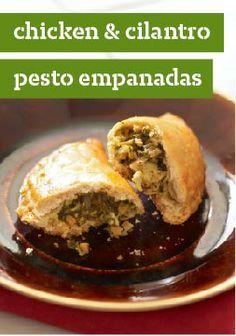 Chicken & Cilantro Pesto Empanadas