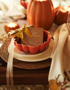 halloween place settings pumpkin