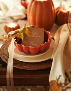 halloween place settings pumpkin