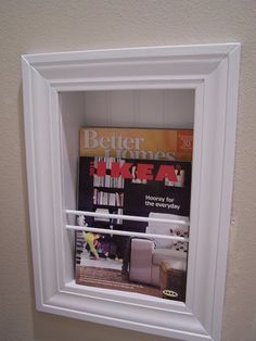 Recessed magazine rack