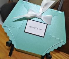 Baby Shower Invitations: Turquoise Tiffany Blue Elegant Upscale Baby Shower Invitations in Diaper Die Cut and Custom Tag on Etsy, $2.79 AUD
