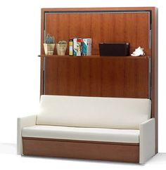 Fold down beds are contemporary space saving ideas for apartments and small rooms, especially teenage bedroom and guest room designs. Folding bunk beds and wall mounted twin beds are modern furniture