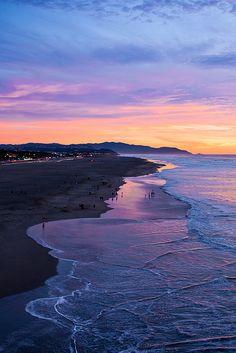 Ocean Beach at dusk...