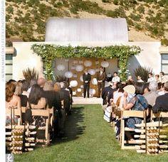 Lanterns as ceremony backdrop