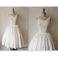 Off White Lace 50's Dress