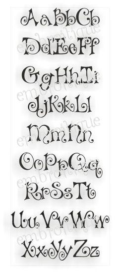 Bows Embroidery Alphabet Monogram Set. $6.99, via Etsy.
