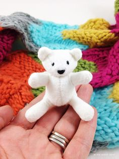 Teeny Tiny polar bear cub - Kerry Goulder: Sewing Patterns sewing tales to stitch and love - sewing with felt
