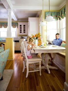 window benches, the bay, kitchen tables, cozy kitchen, bay windows, window seating, dining nook, famili function, window seats