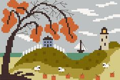 Free Fall SAL From By The Bay Needleart the bay, bay needleart