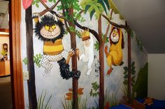 Storytime Room Mural. Where the Wild Things Are