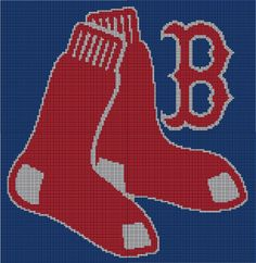 Ravelry: Boston Red Sox B Applique pattern by Yarn Twins