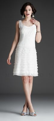 Mignon White Collection - Short Ivory Ruffle Dress