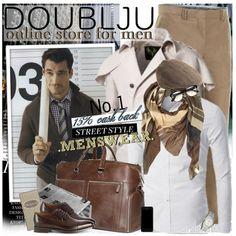 Mens Double Trench Coat #doublju