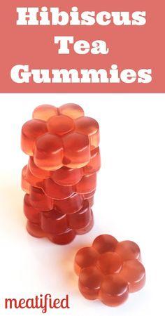 Hibiscus Homemade Gummies from http://meatified.com #paleo #gelatin #gummies Passion Tea